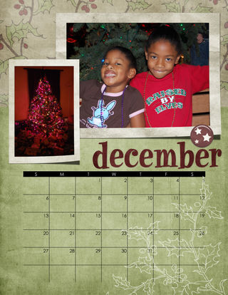 2009 December Calendar