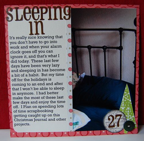 zb Day 27: Sleeping In